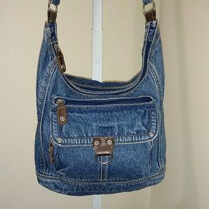 Handbags - BLUE JEAN SHOULDER BAG